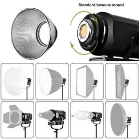 GVM-300W-LED-Video-Light-CRI97-TLCL97-5600K-37300lux-Continuous-Output-Lighting-with-Bowens-Mount-Remote-DMX-Control-System-Photography-Lighting-for-YouTube-Portrait-Studio-Wedding-Shooting