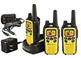 Midland - LXT630VP3, 36 Channel FRS Two-Way Radio - Up to 30 Mile Range Walkie Talkie, 121 Privacy Codes, & NOAA Weather Scan + Alert (3 Pack) (Yellow/Black)