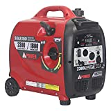A-iPower SUA2300iV 2300-Watt Portable Inverter Geneator RV Ready Ultra Quiet Mobile Kit, Red & Black