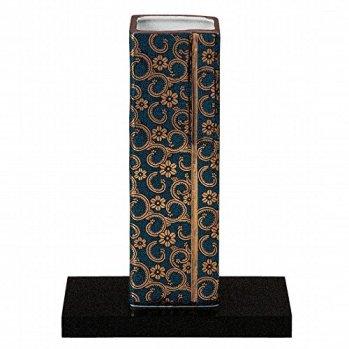 Jpanese traditional ceramic Kutani ware. Ikebana flower vase. Blue dott. With paper box. ktn-K5-1232