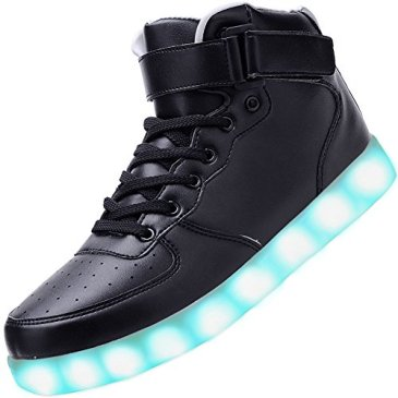 Odema Unisex LED Shoes High Top Breathable Sneakers Light Up