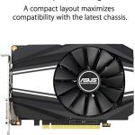 ASUS GeForce GTX 1650 Super Overclocked 4GB Phoenix Fan Edition HDMI DP DVI Graphics Card (PH-GTX1650S-O4G)