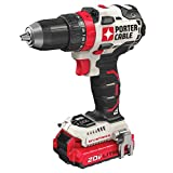 PORTER-CABLE PCCK607LB 20V MAX Brushless Cordless Drill Driver, 1/2'