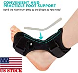 Dr A-Z Dorsal Night Splint Ankle Support Brace Plantar Fasciitis Feet Ankle Brace Arch Support Pain Relief Effective for Heel Arch Foot Pain, Achilles Tendonitis Bonus Alert Card