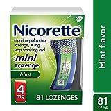 Mini Nicorette Nicotine Lozenge Stop Smoking Aid, 4 mg, Mint Flavored Smoking Cessation Product, 81 Count