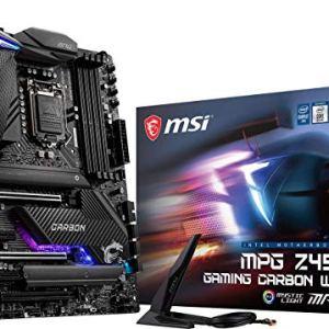 MSI MPG Z490 Gaming Carbon WiFi Gaming Motherboard (ATX, 10th Gen Intel Core, LGA 1200 Socket, DDR4, SLI/CF, Dual M.2…