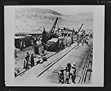 1940 Photo Supplies from America. Among the shiploads of material coming to the Middle East from America is this large consignment of U.S. made tanks, automobiles and trucks Location: Middle East