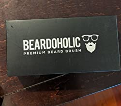 BEARDOHOLIC Boar Hair Beard Brush - Professional Barber Brush for Grooming, Detangling and Beard Health - Distributes Natural Oils - Portable, Great Gift for Bearded Men - Bamboo Wood Customer Image