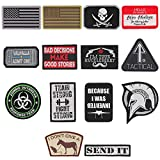 14er Tactical Morale Patches (14-Pack) | Hook & Loop Backed, 3' x 2' PVC Flags & Funny Patches | Perfect for Hat, Backpack, Jacket, Military, Police, Airsoft Gear | Display Your USA Flag!