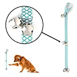 Mighty Paw Tinkle Bells 2.0, Designer Dog Doorbells, Stylish Fabric with Premium Quality Bells, Housetraining Doggy Door Bells for Potty Training, Includes Free Wall Hook (Kelly Green - Moroccan)