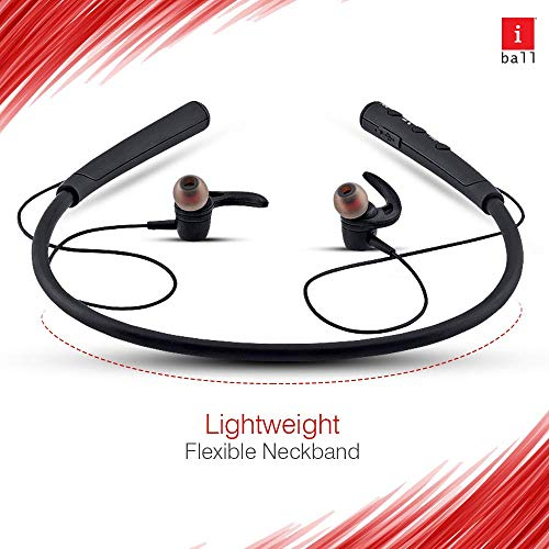 iBall EarWear Base BT 5.0 Neckband Earphone with Mic and 12 Hours Battery Life (Black) 3