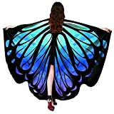 Shireake Baby Christmas/Party Prop Soft Fabric Butterfly Wings Shawl Fairy Ladies Nymph Pixie Costume Accessory ... (168x135CM, Star Sky)