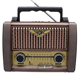 i GEAR Retro Classic Vintage Radio with FM/AM/SW Band, Bluetooth Speaker, USB and TF/SD Card Support, Torch…