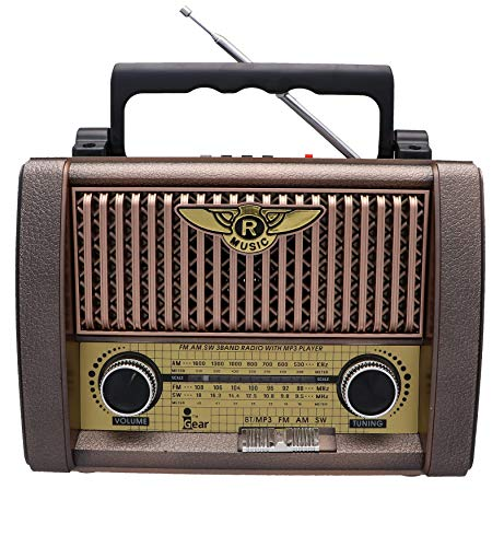 i-GEAR-Retro-Classic-Vintage-Radio-with-FMAMSW-Band-Bluetooth-Speaker-USB-and-TFSD-Card-Support-Torch-Rechargeable-and-Portable