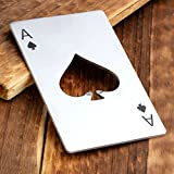 CozyCabin Practical Wine Wine Bottle Opener Beer Funny Styles-Stainless Steel (Ace of Spades)