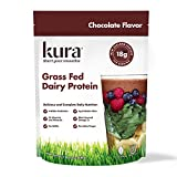 Kura Grass Fed Dairy Protein Powder, Chocolate, New Zealand Born, 10 Count Single-Serve Travel Packets