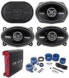 2 Hifonics ZS693 6x9 800W Car Speakers+2 4x6 Speakers+4-Ch Amplifier+Amp Kit