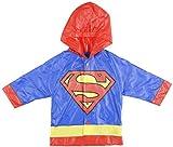 Toddler Superman Raincoat Hooded Rain Slicker Blue