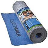MP Global Products QuietWalk Laminate Flooring Underlayment with Attached Vapor Barrier Offering Superior Sound Reduction Compression Resistant and Moisture Protection Covers 360 Sq. Ft.) Blue
