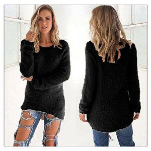 Women Fleece Sweaters, LITETAO 2017 Winter Warm Top Long Sleeve Jumper O-neck Blouse