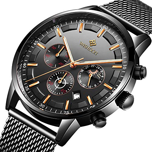 Men's Watches Fashion Analog Quartz Watch Date Business Chronograph Dress Luxury Brand Black Leather Wristwatch Gents Sport Waterproof Wristwatch 1 Fashion Online Shop Gifts for her Gifts for him womens full figure
