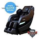 TOP PERFORMANCE KAHUNA SUPERIOR MASSAGE CHAIR WITH NEW SL-TRACK WITH 6 ROLLERS - SM-7300 DARK BROWN/BLACK (WG)