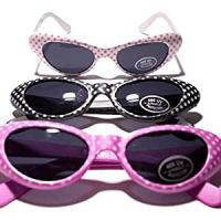 Rhode Island Novelty Retro Polka Dot Cat Eye Sunglasses (1 dz)