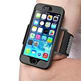 iPhone 6S Plus Armband , SUPCASE , SPORT RUNNING, Apple iPhone 6S Plus Armband 5.5 inch Easy Fitting Sport Running Armband with Premium Flexible Case Combo for iPhone 6 Plus Cover (Black)