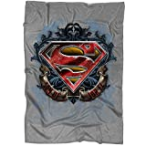 "UTAMUGS Superman Logo Blanket for Bed and Couch, Son of JOR El Superman Blankets - Perfect for Layering Any Bed (Large Blanket (80""x60""))"