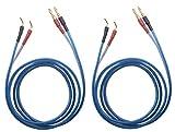 KK ZB-SB 1pair Set(4banana&4pin) HiFi OFC Speaker Wire, Banana Plug to Pin Type Plug, 1.5M(4.92ft)/3M(9.84ft)/5M(16ft)/7M(22.9ft), KK ZB-SB (1.5M(4.92ft))