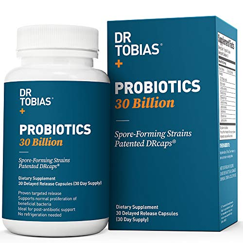 Dr Tobias Probiotics 30 Billion - 10 Strains, Delay Release & Spore Forming Strains - Shelf Stable