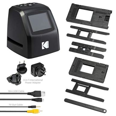 KODAK-Mini-Digital-Film-Slide-Scanner--Converts-35mm-126-110-Super-8-8mm-Film-Negatives-Slides-to-22-Megapixel-JPEG-Images--Includes-24-LCD-Screen--Easy-Load-Film-Adapters