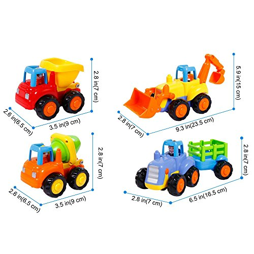 friction powered cars push and go car construction vehicles toys set