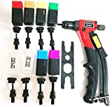 rzx 8' RIVET NUT GUN M3 M4 M5,m6 ,1/4-20m10-24, 8-32 , 6-32,Hand Riveter Rivet Gun, Riveting Tools with Nut Setting System