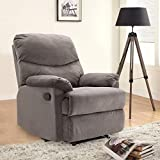 HomeTown Radcliffe Fabric Single Seater Recliner in Mocha Colour
