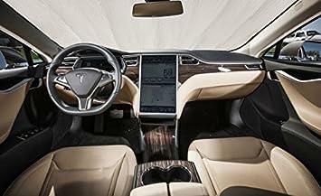 Amazon Com Autoheatshield Sunshade For Tesla Model S Model S 2012 2013 2014 2015 2016 2017 2018 2019 2020 2021 Custom Fit Windshield Sunshade Automotive