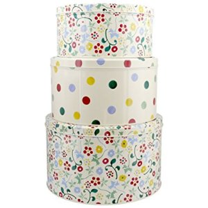 Emma Bridgewater Spring Floral & Polka Dot Design Round Cake Tins – Set of 3 51BT0o LeaL