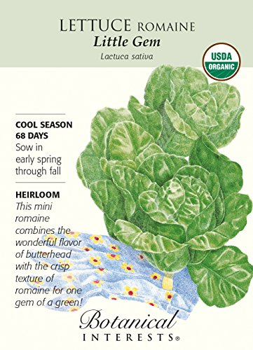 Botanical Interests, Seed Lettuce Romaine Little Gem Organic, 1 Each