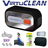 VirtuClean CPAP Cleaner Bundle (fits: DreamStation Auto BiPAP) Includes: Heated Hose Adapter, Dreamstation Filters (1 Reusable + 3 Disposable), 6ft CPAP Hose, Case, 70 Citrus Wipes, 1 Hose Clamp