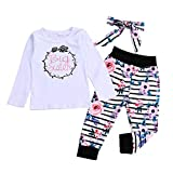 Newborn Toddler Baby Girl Clothes Big Sister Outfit Bodysuit Tops + Floral Legging Pants Set Bowknot Headband (2-3 Years, Big Sister)