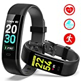 Mgaolo Fitness Tracker HR,Activity Tracker IP68 Waterproof Smart Watch Fit Wristband with Heart Rate Blood Pressure Sleep Monitor Pedometer Calorie Step Counter for Android and iPhone  (Black)