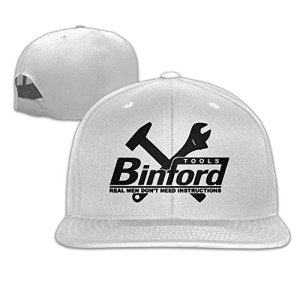 Man's Popular Home Improvement Binford Tools Flat Along Baseball Cap Snapback Hats