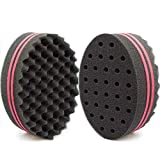 Small Holes Hair Sponge for Twists and Dreads Barber Afro Wave Nappy Curling Sponge Brush for Curls Women Men Natural Hair 1 Pcs
