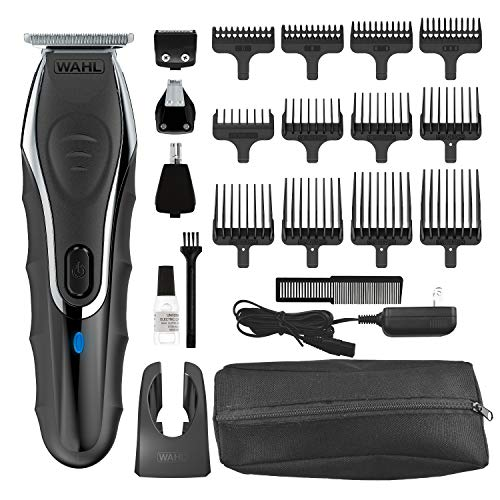 Wahl Clipper Aqua Blade Wet/Dry Beard Trimmer Kit, Lithium Ion All in One Grooming Kit for Beard, Ear, Nose and Body, Waterproof Cordless Rechargeable