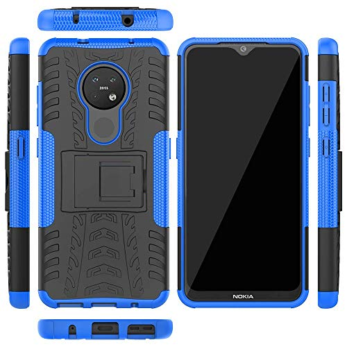 Soezit Kick Stand Cover Back Hard with Stand Back Cover for Nokia 6.2 (Blue) 3