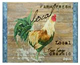 'Chicken Speak Local' Glass Cutting Board by TIMELESS BY DESIGN | Non Slip Durable Non Porous Shatter-Resistant Chopping Board for Kitchen 11 X 15 X 1/4 Inches