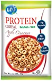 Kay's Naturals Protein Breakfast Cereal, Apple Cinnamon, Gluten-Free, Low Carbs, Low Fat, Diabetes Friendly All Natural Flavorings, 1.2 Ounce (Pack of 6)