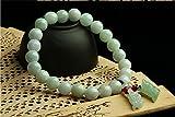 Natural Genuine Beads Jade Bracelet with handmade A++ natural brave troops Jade pendant
