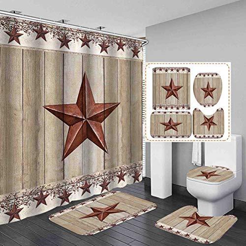 Rustic Western Star Bath Set