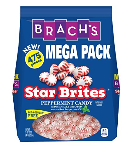 Brach's Star Brites Peppermint Starlight Mints Hard Candy, 5 Pound Value Pack